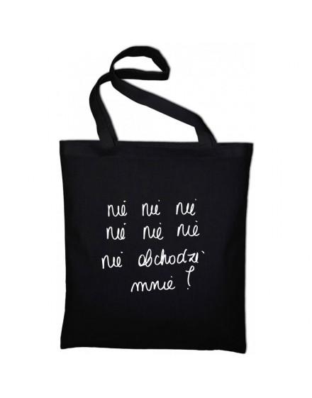nie nie nie / bawełniana torba / CZARNA