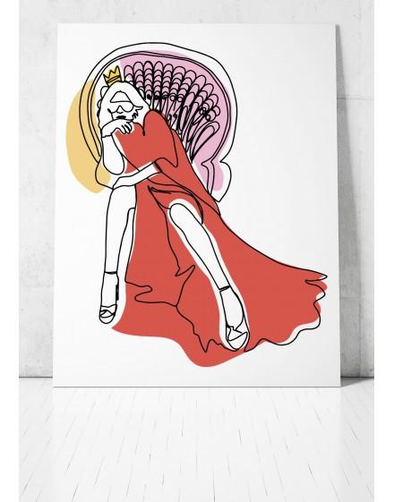 Plakat // Queen OneLine
