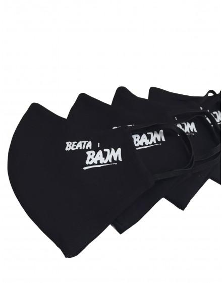 Maseczka bawełniana z logo Beata i BAJM